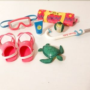 american girl retired lea beach accessories!